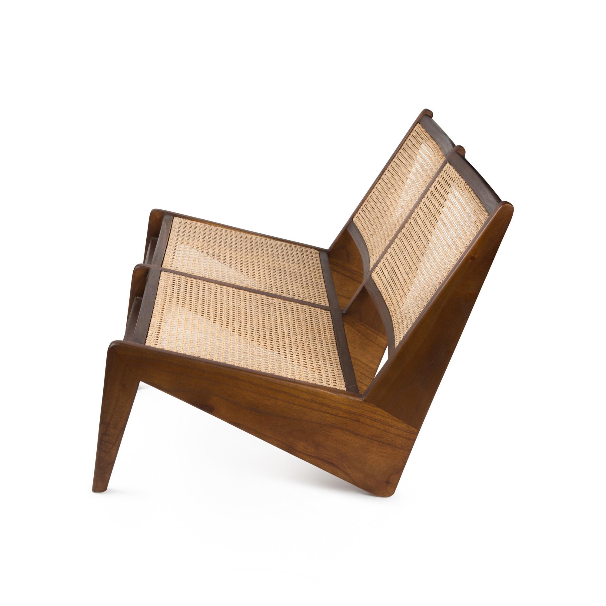 Kangaroo Chair Bench 2 - Verdunkeltes Teakholz-3