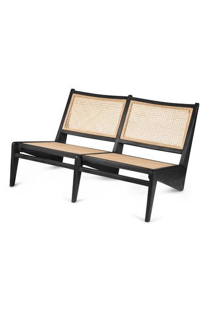 Kangaroo Chair Bench 2 - Kohle schwarz