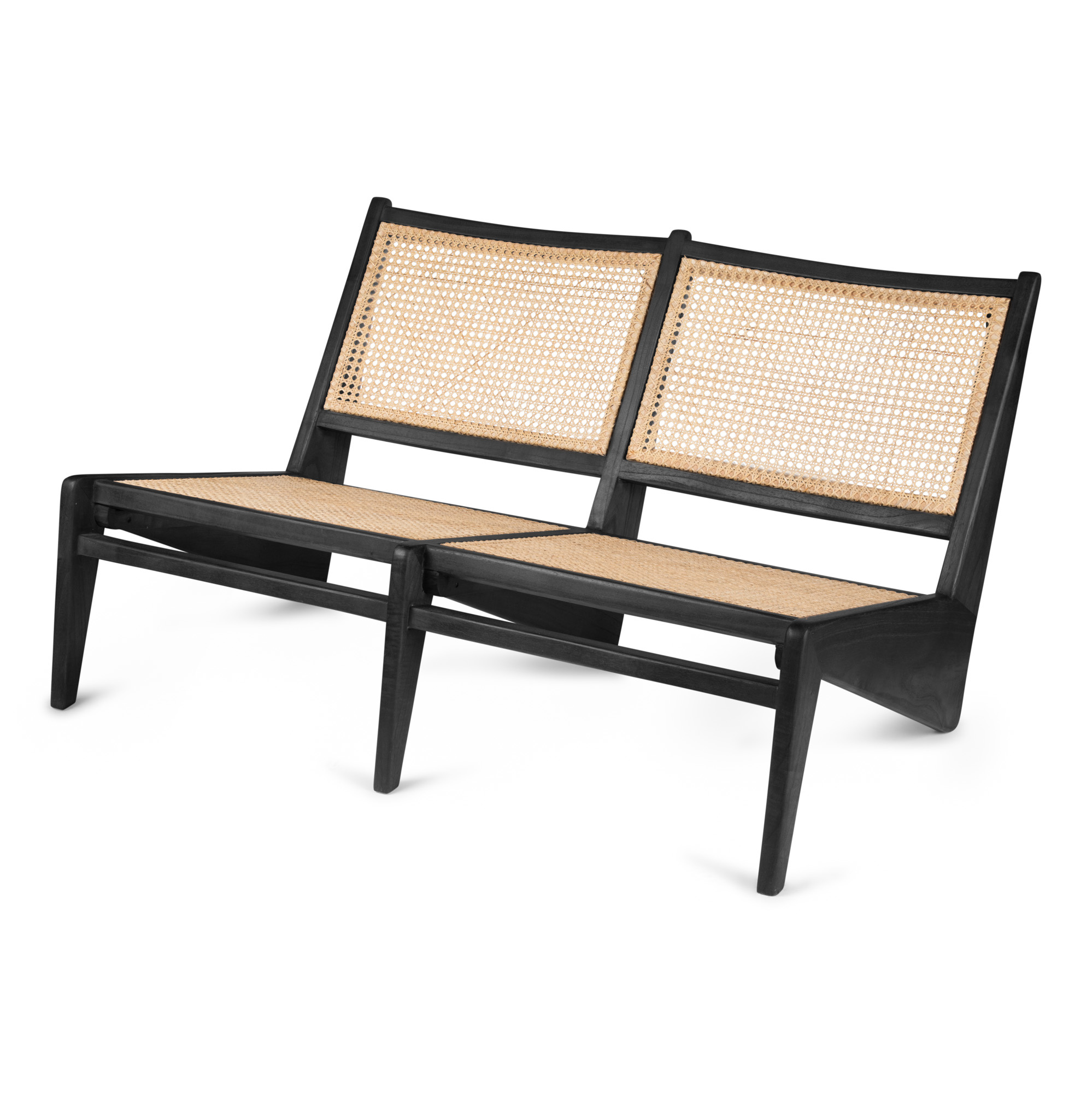Kangaroo Chair Bench 2 - Charcoal Black-1