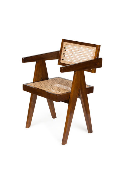 Office Chair - Verdunkeltes Teakholz Hochglanz