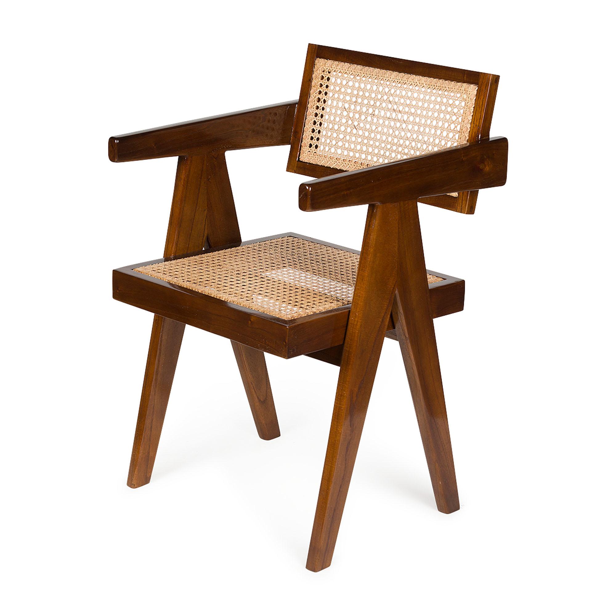 Office Chair-  Darkened Teak High Gloss-1