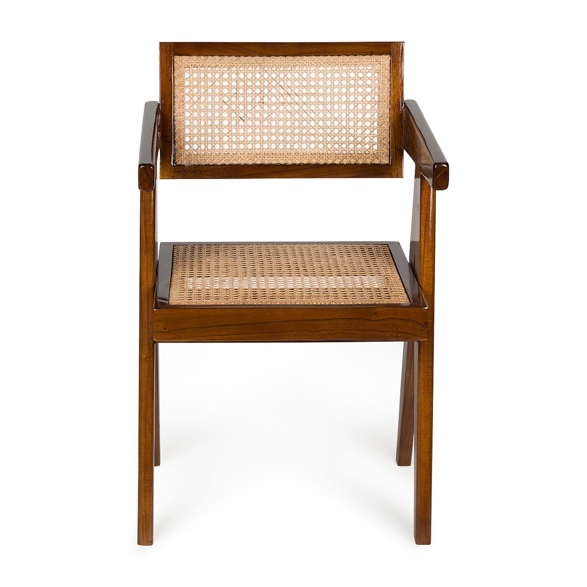 Office Chair-  Darkened Teak High Gloss-3