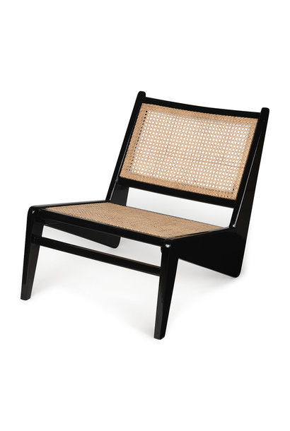Kangaroo Chair - Kohle schwarz Hochglanz