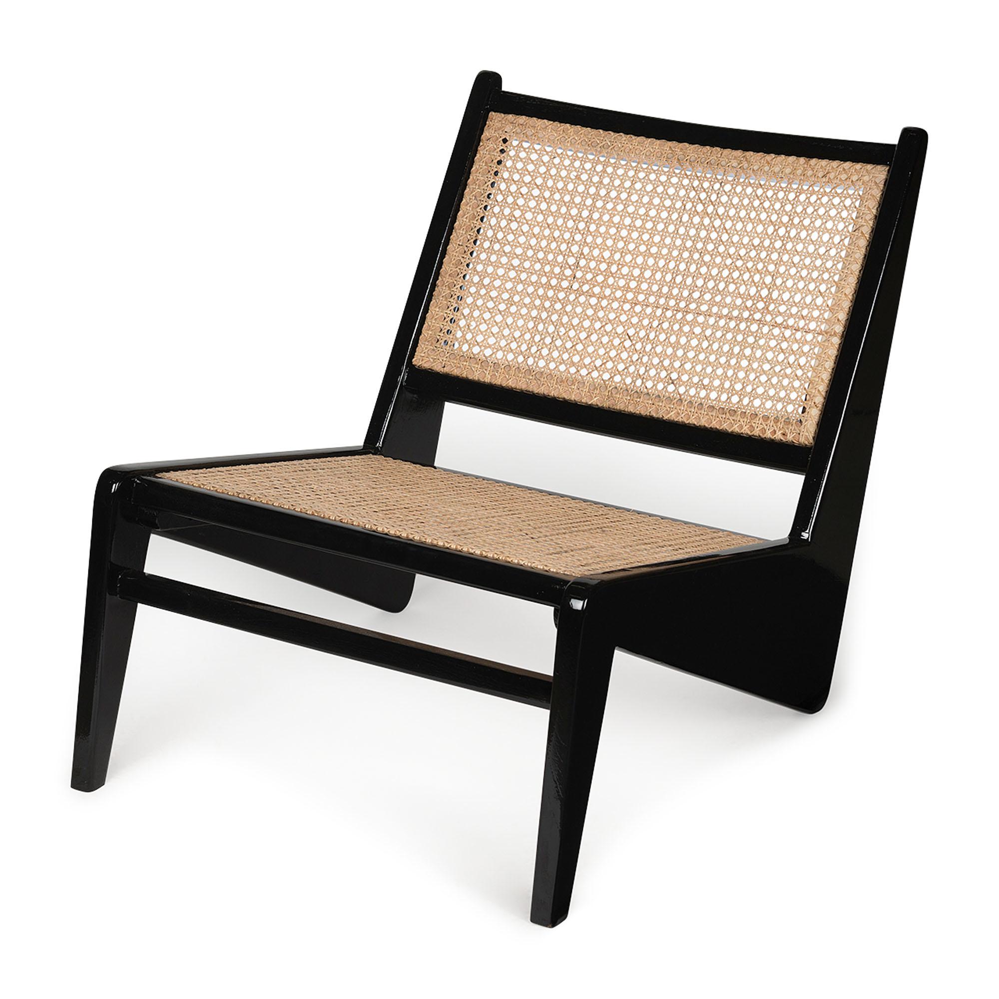 Kangaroo Chair - Charcoal Black Hoogglans-1