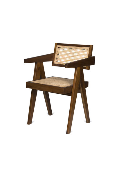 Office Chair - Verdunkeltes Teakholz