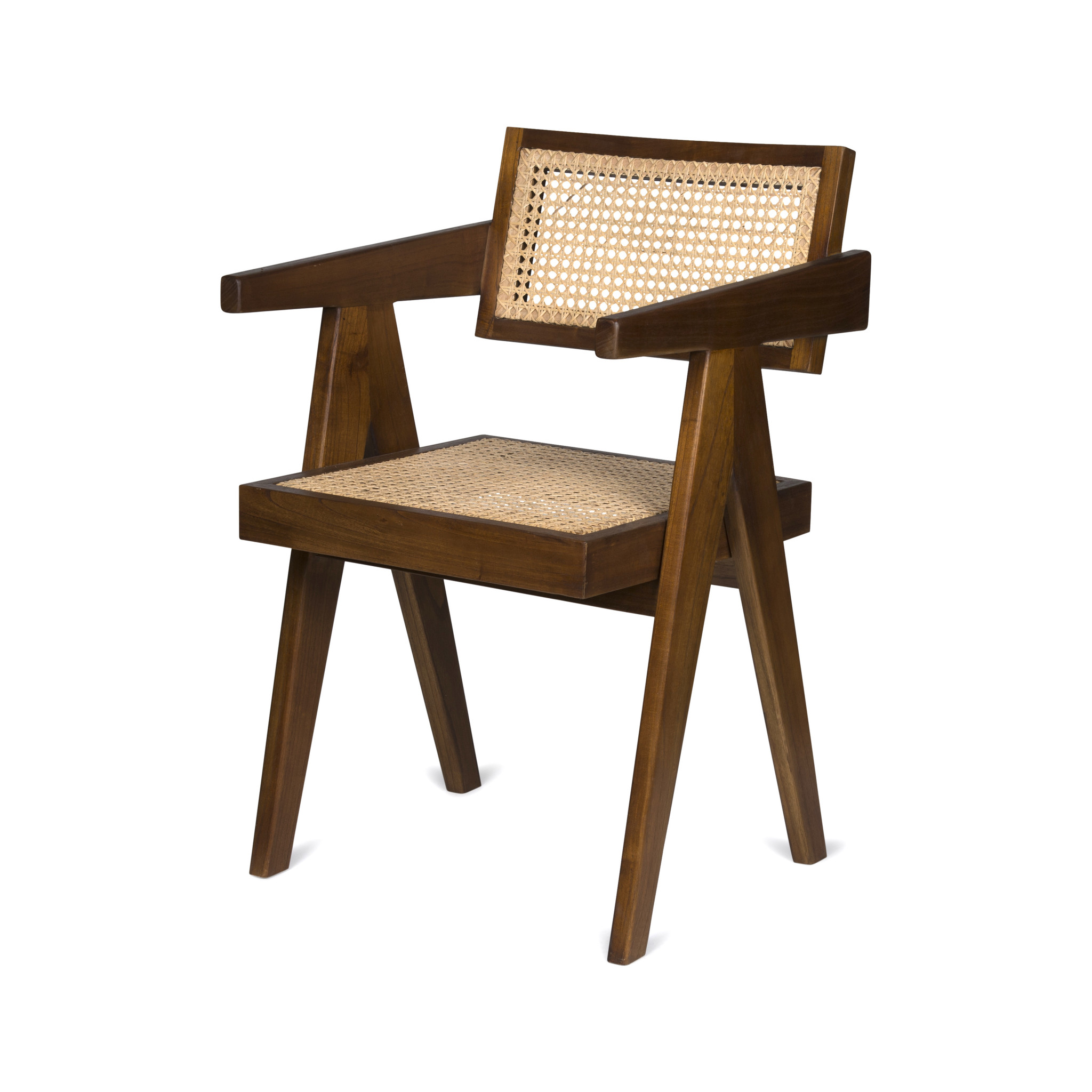 Office Chair - Verdunkeltes Teakholz-1