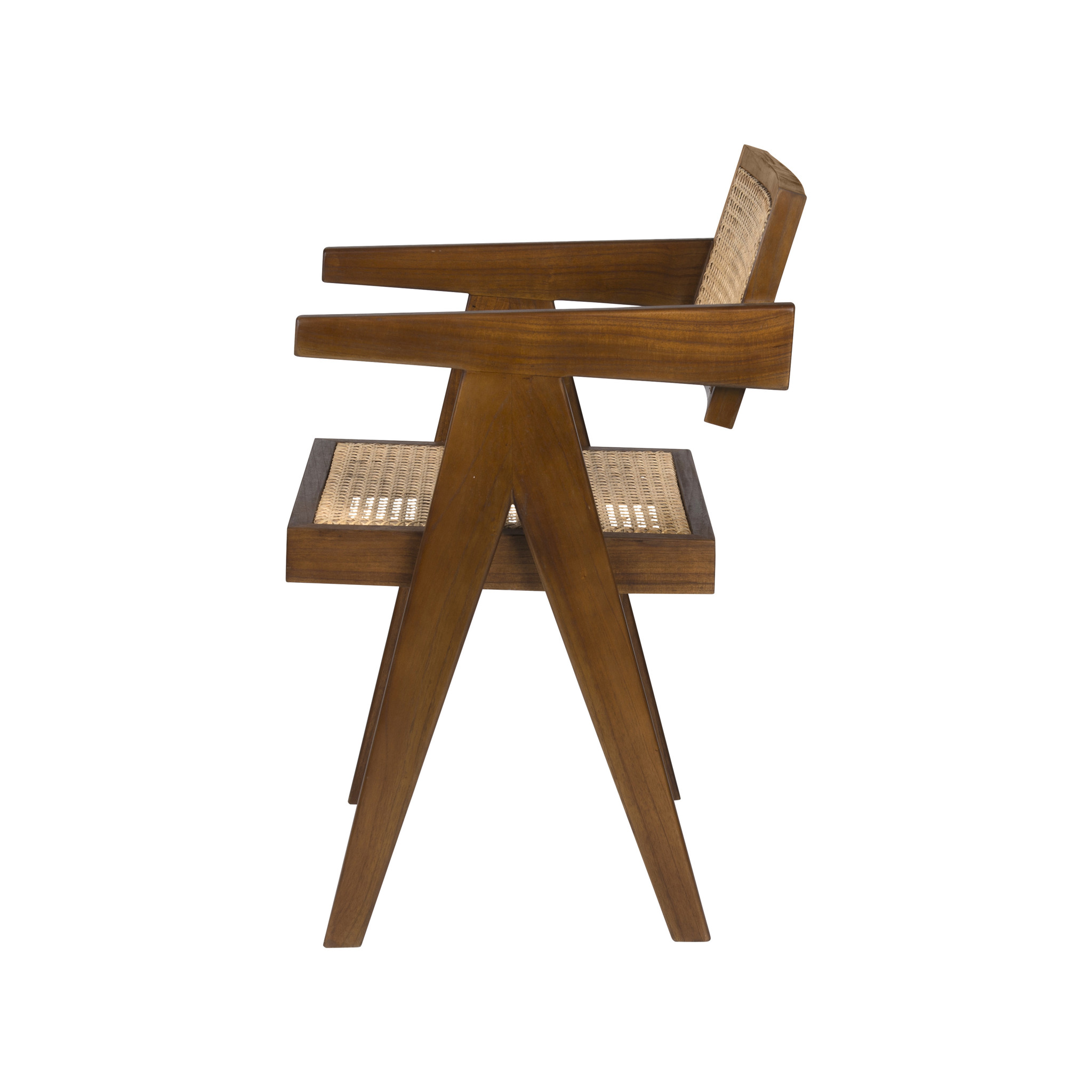 Office Chair - Verdunkeltes Teakholz-4