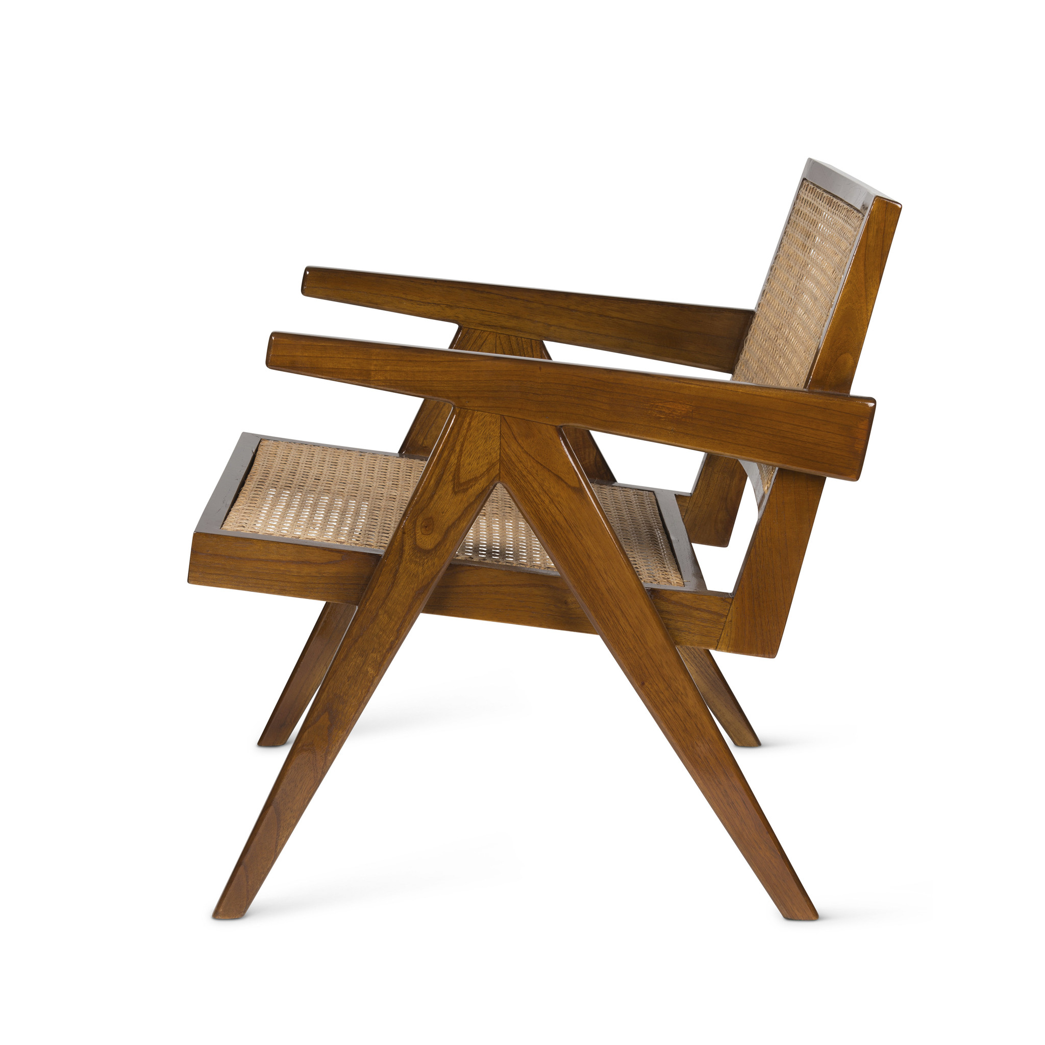 Easy Lounge Chair - Verdunkeltes Teakholz Hochglanz-2