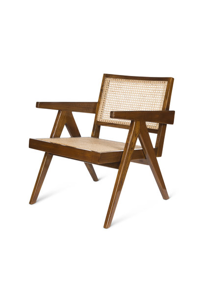 Easy Lounge Chair - Darkened Teak High Gloss