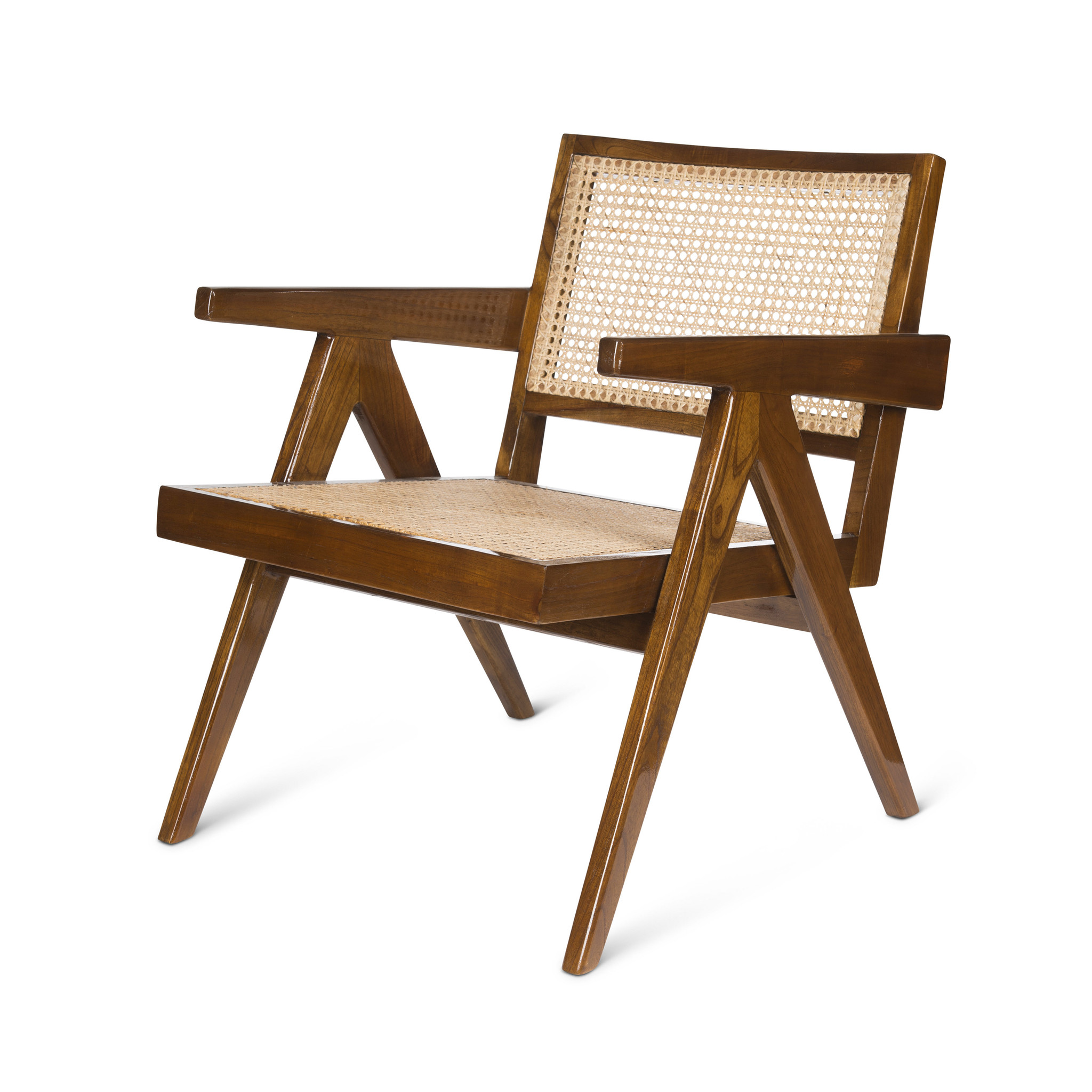 Easy Lounge Chair - Verdunkeltes Teakholz Hochglanz-1