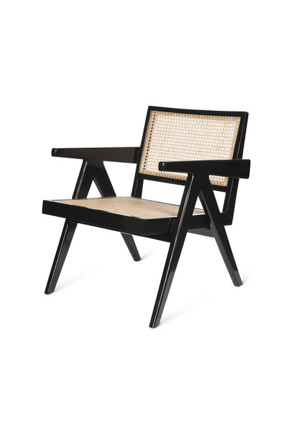 Easy Lounge Chair - Charcoal Black High Gloss
