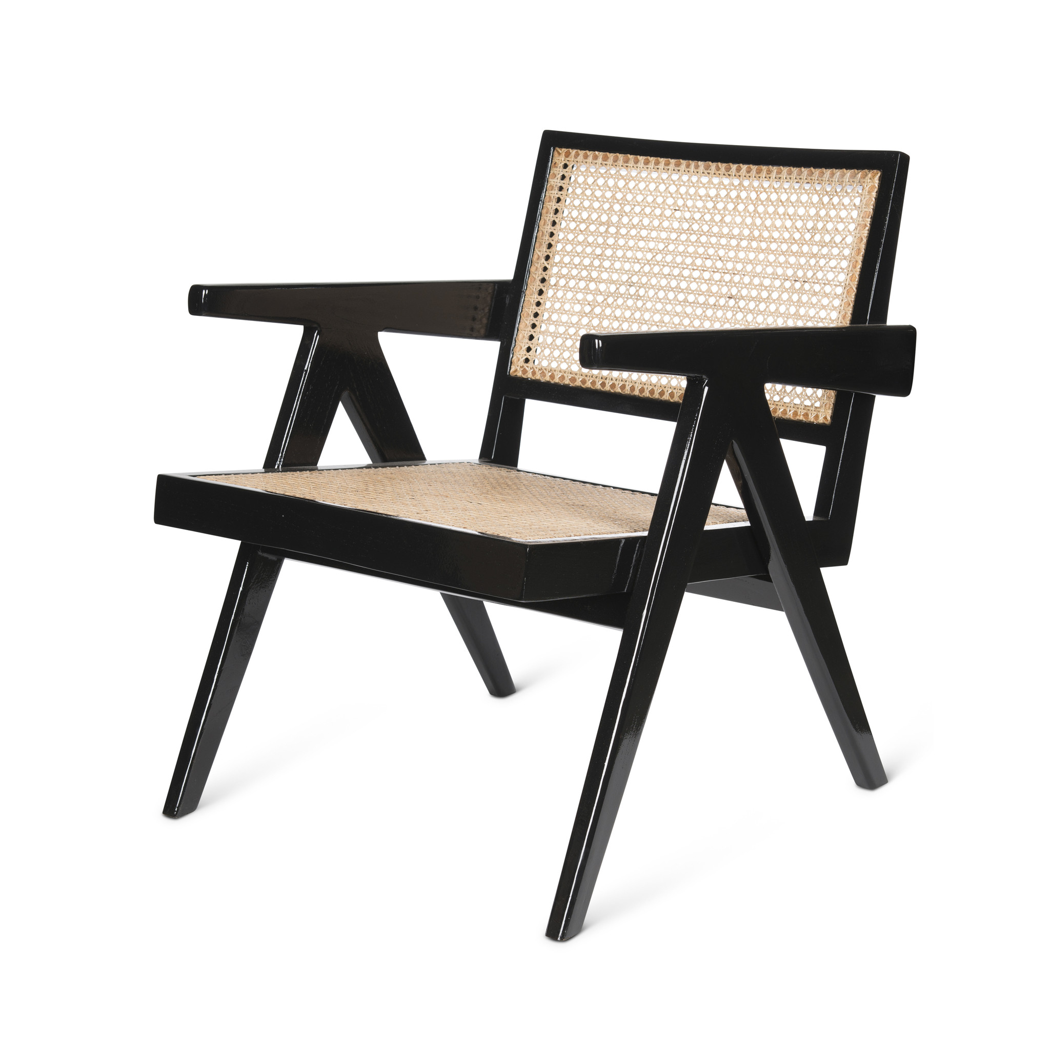 Easy Lounge Chair - Charcoal Black High Gloss-1