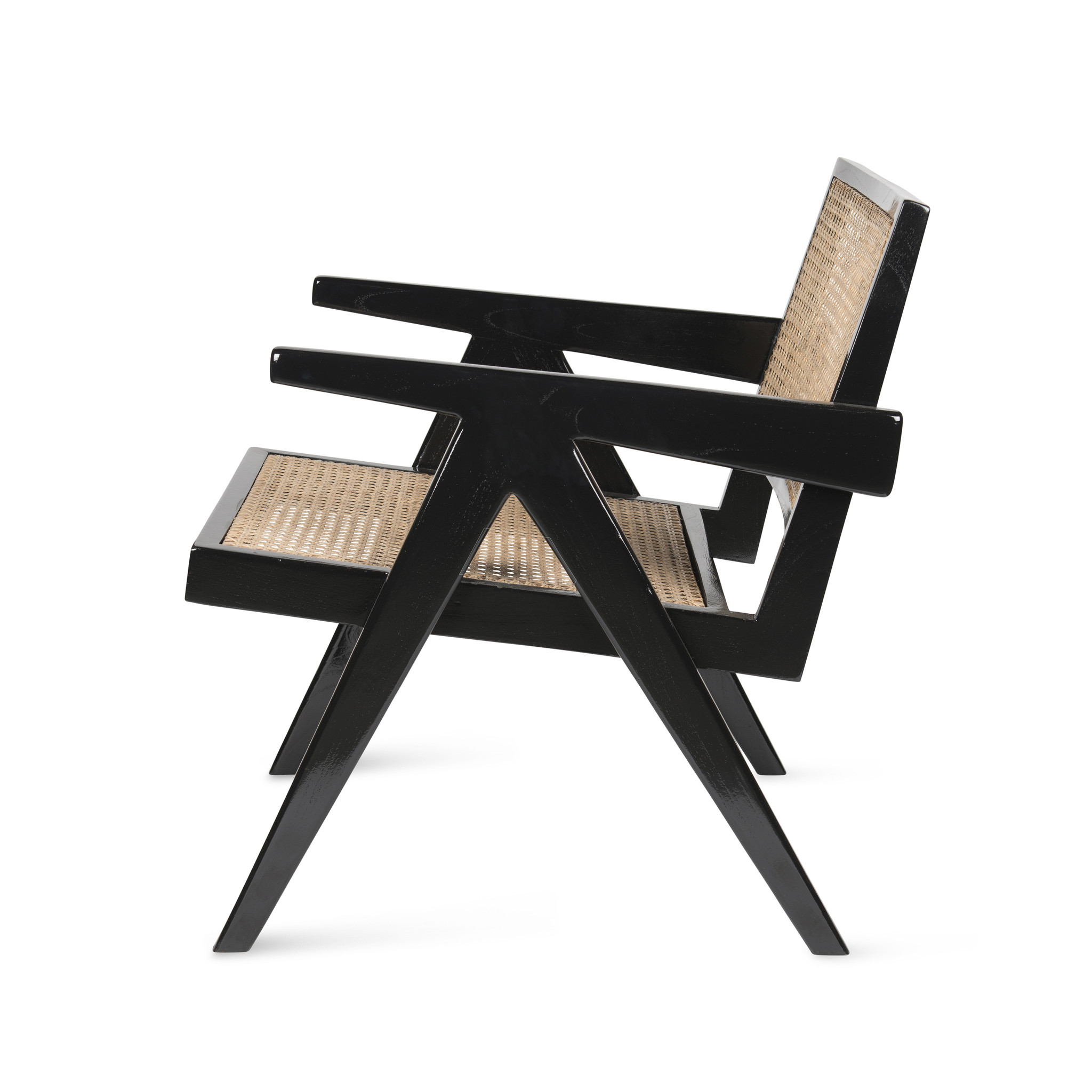 Easy Lounge Chair - Charcoal Black High Gloss-3