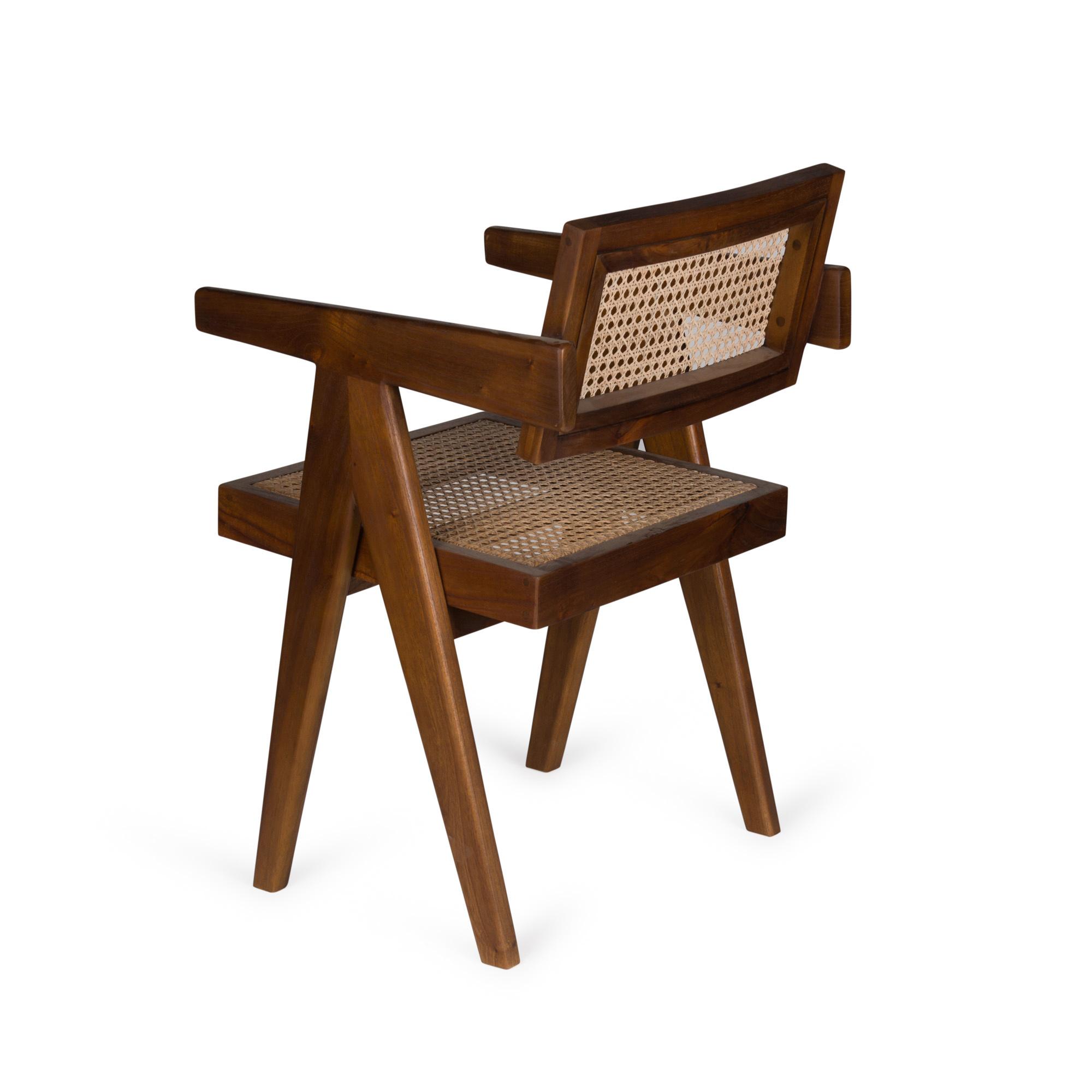 Office Chair-  Darkened Teak High Gloss-4