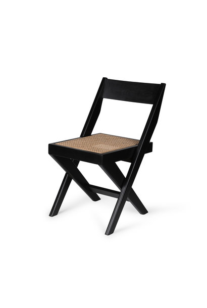 Library Chair - Charcoal Black