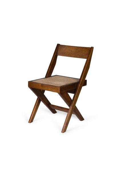 Library Chair - Verdunkeltes Teakholz