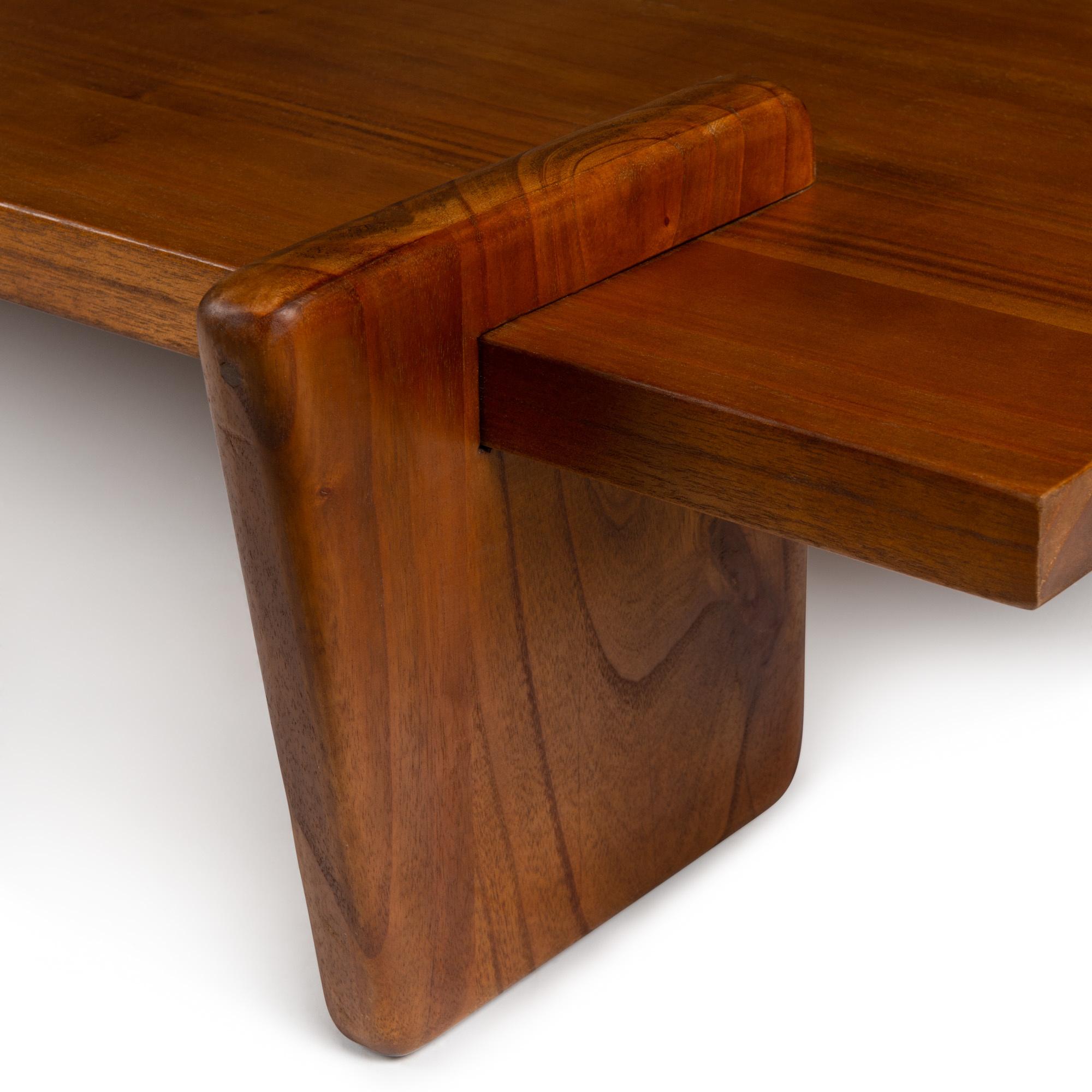 Coffee table S.T.H. L Verdunkeltes Teakholz-3