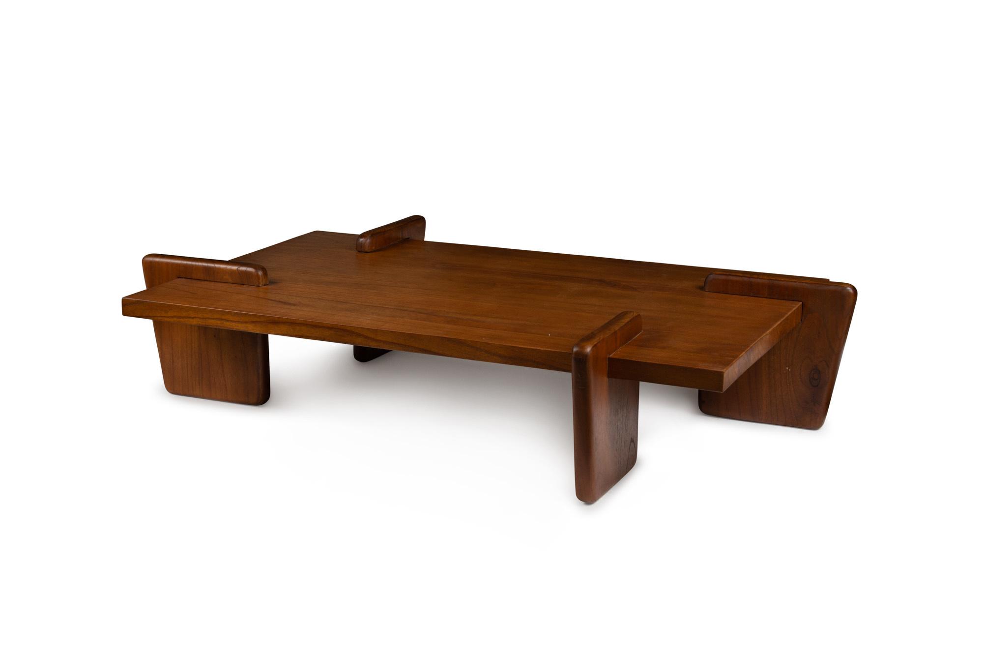 Coffee table S.T.H. L Verdunkeltes Teakholz-2