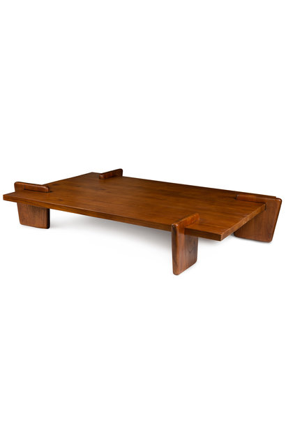 Coffee table S.T.H. XL  Verdunkeltes Teakholz