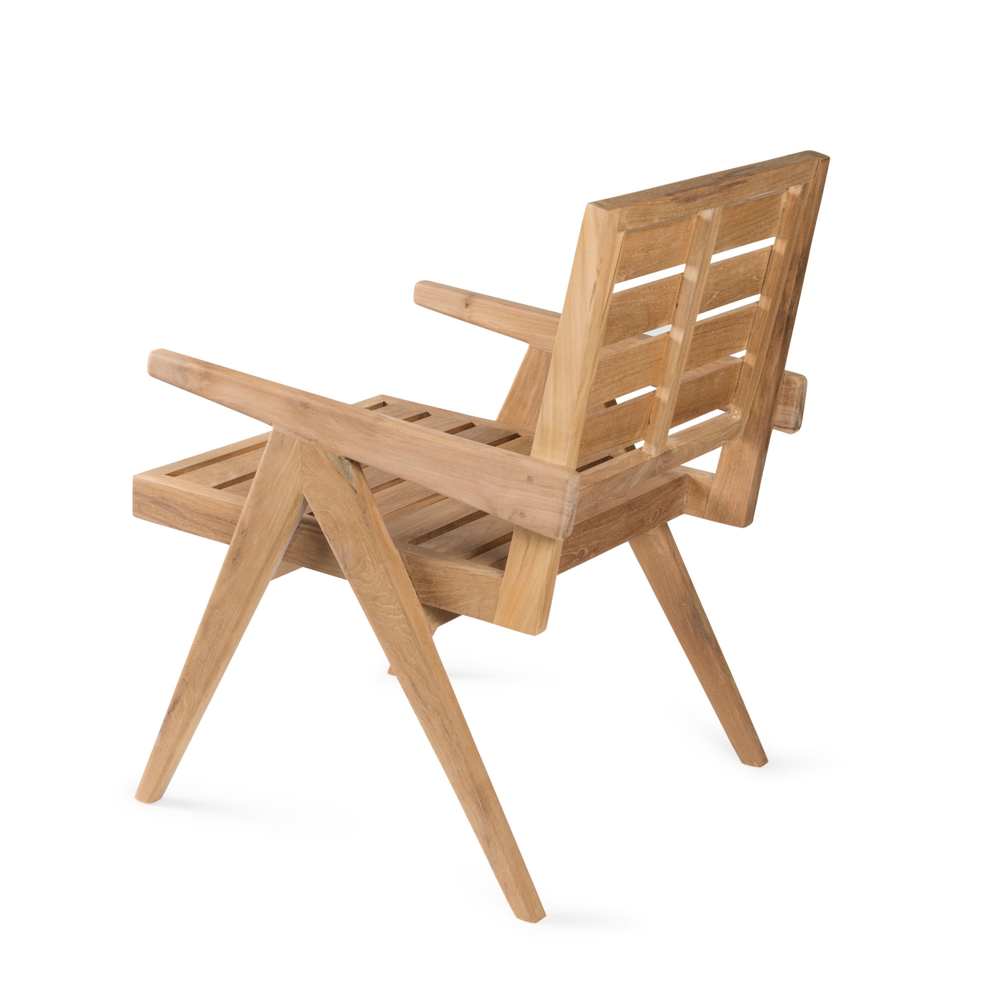 Dining Easy Lounge  Chair - Teak Outdoor-3