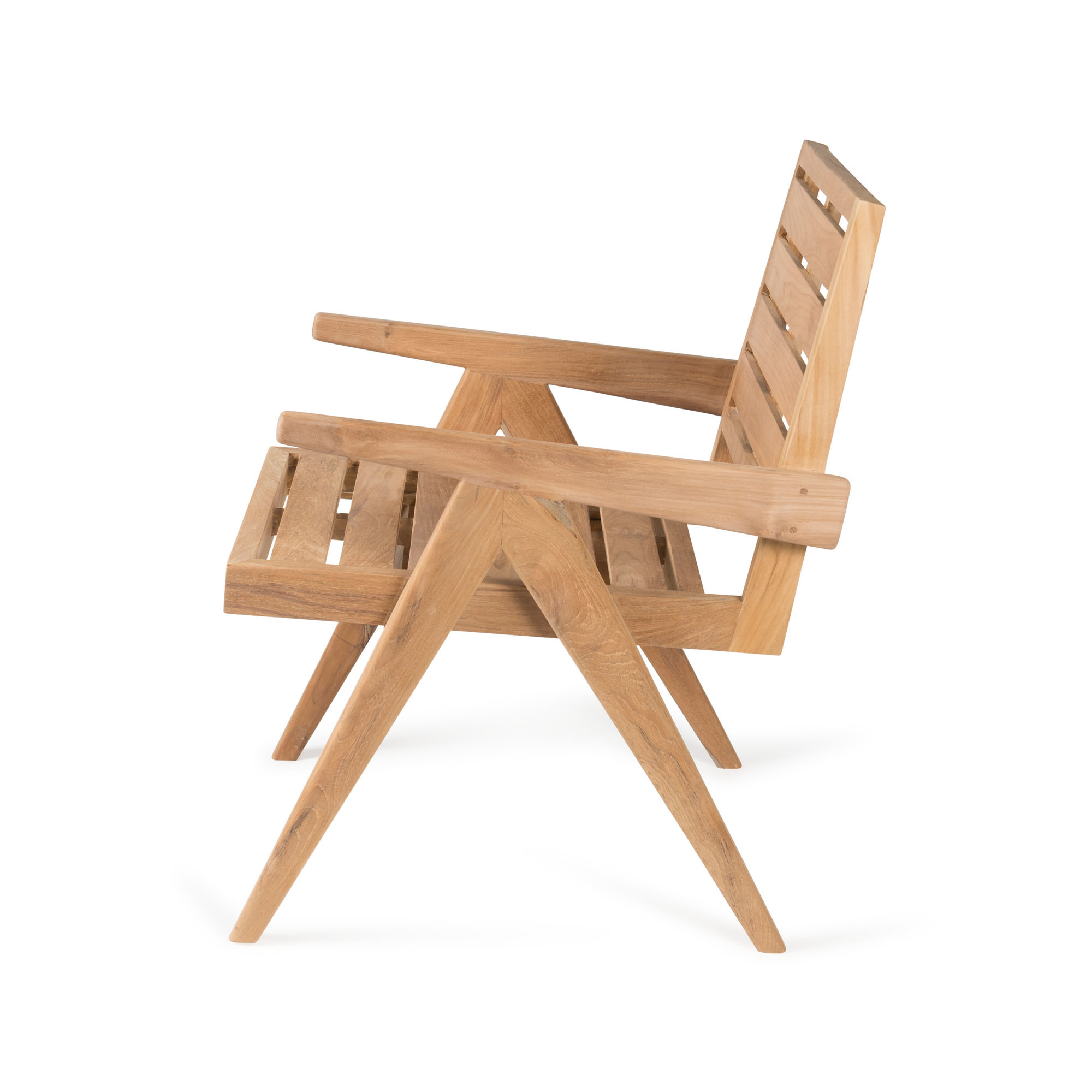 Dining Easy Lounge  Chair - Teak Outdoor-2