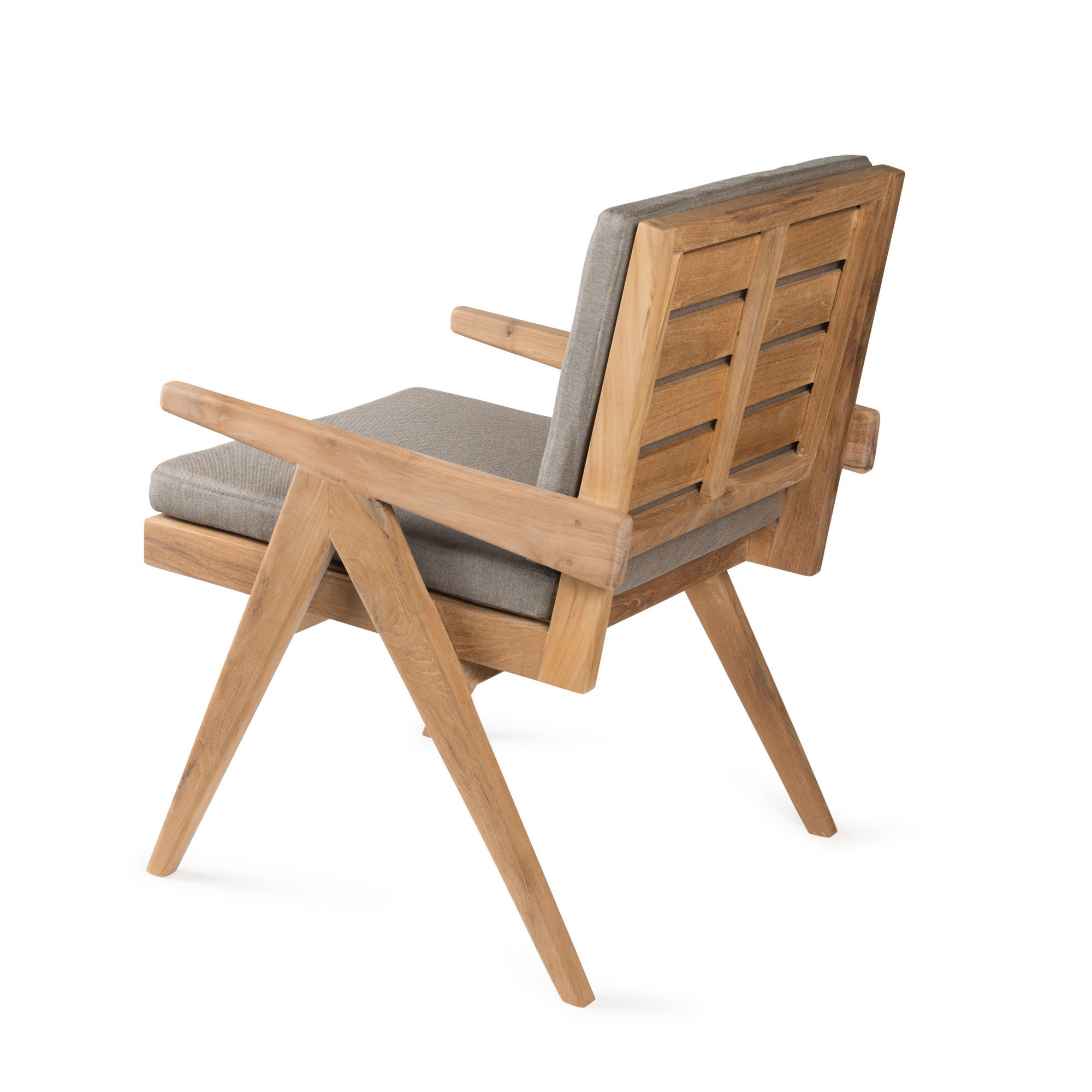 Dining Easy Lounge  Chair - Teak Outdoor with Cushion-3