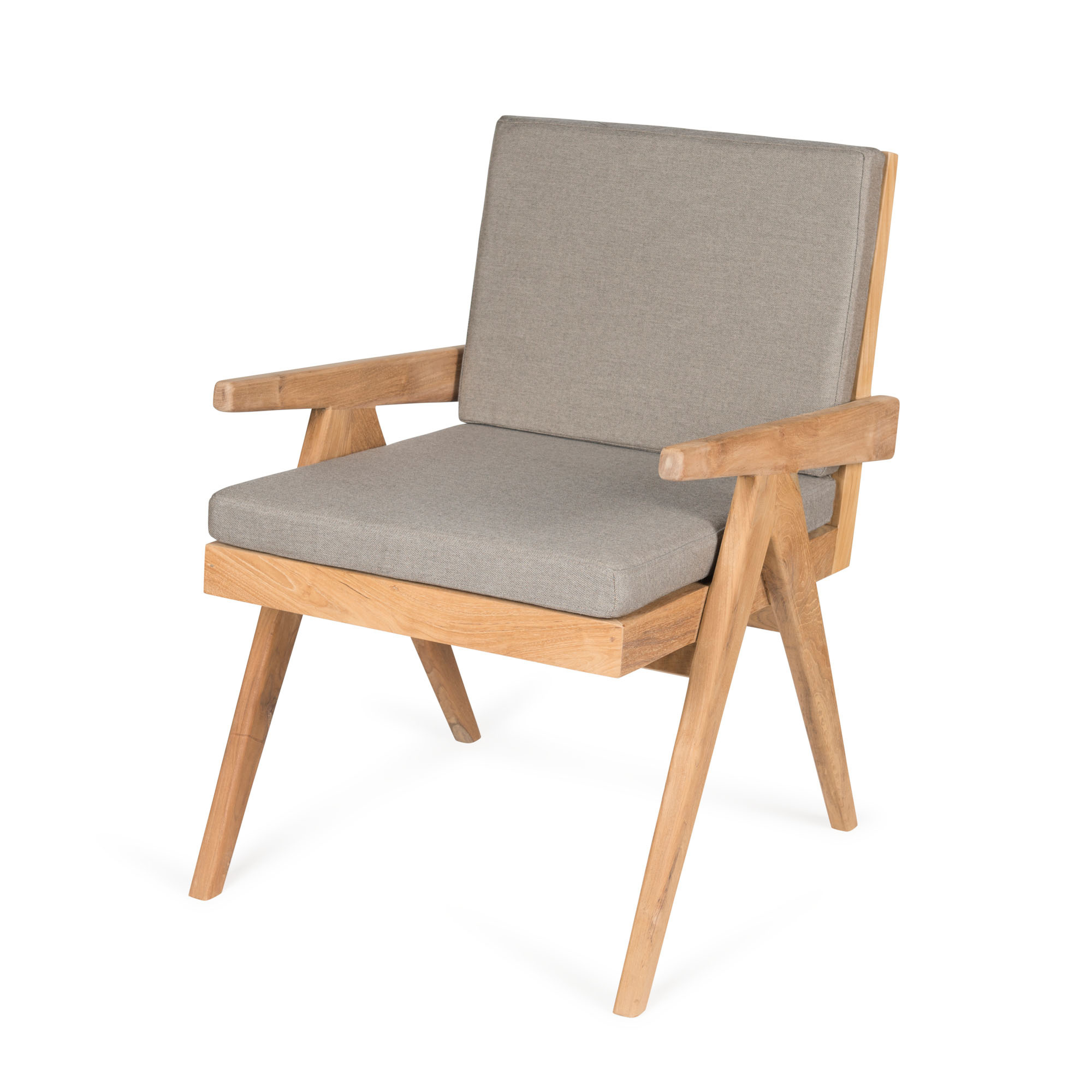 Dining Easy Lounge  Chair - Teak Outdoor with Cushion-1