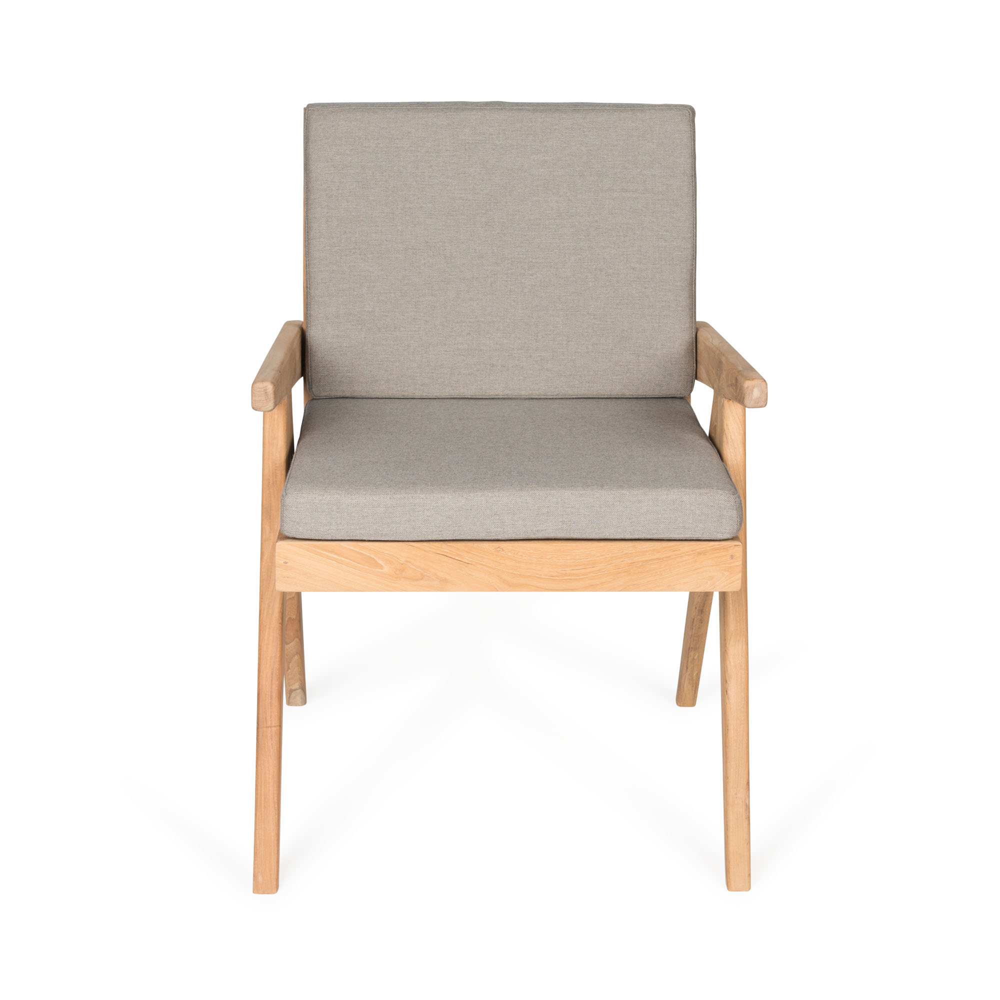 Dining Easy Lounge  Chair - Teak Outdoor with Cushion-4