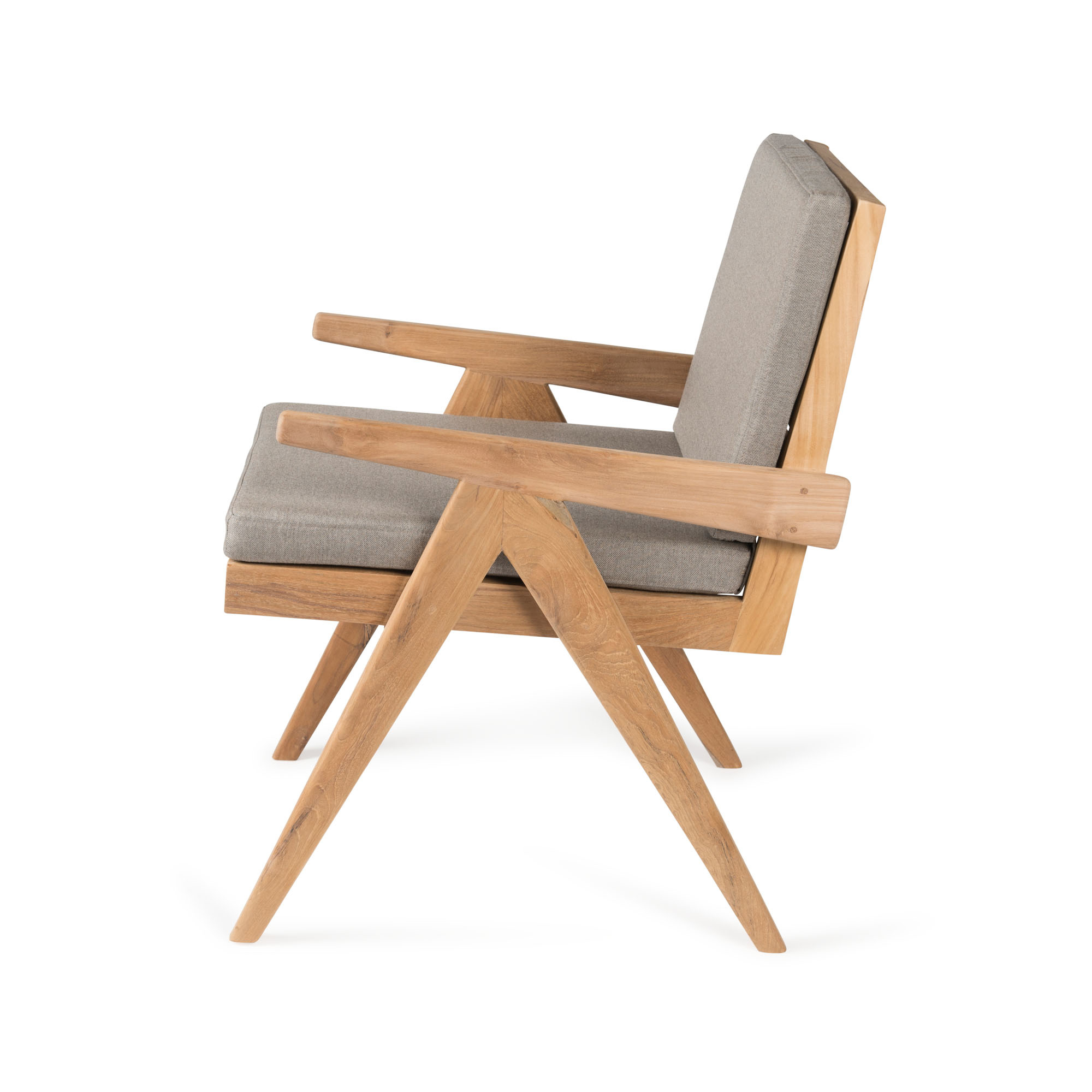 Dining Easy Lounge  Chair - Teak Outdoor with Cushion-2