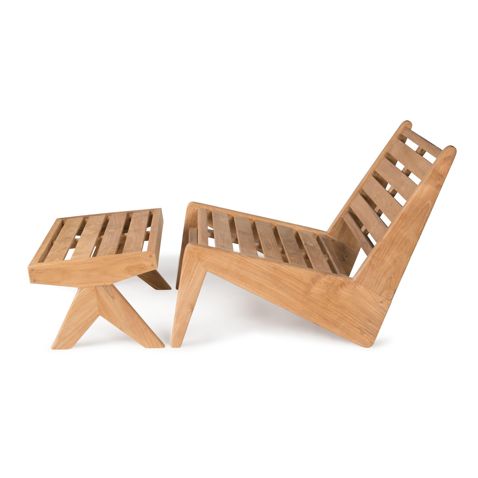 Kangaroo  Footstool - Teak Outdoor-2