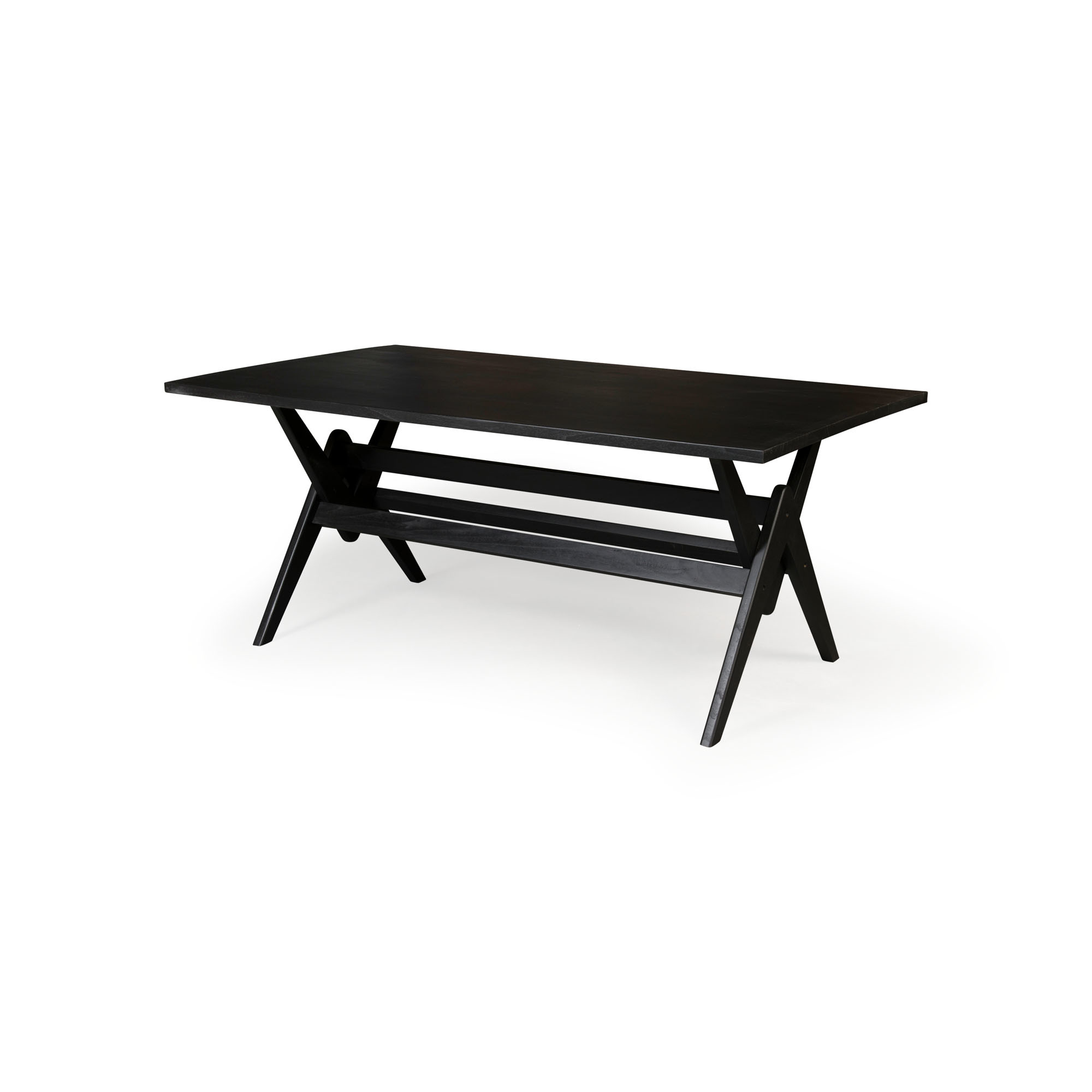 Dining Table W.T.H. 180 -  Charcoal Black-2