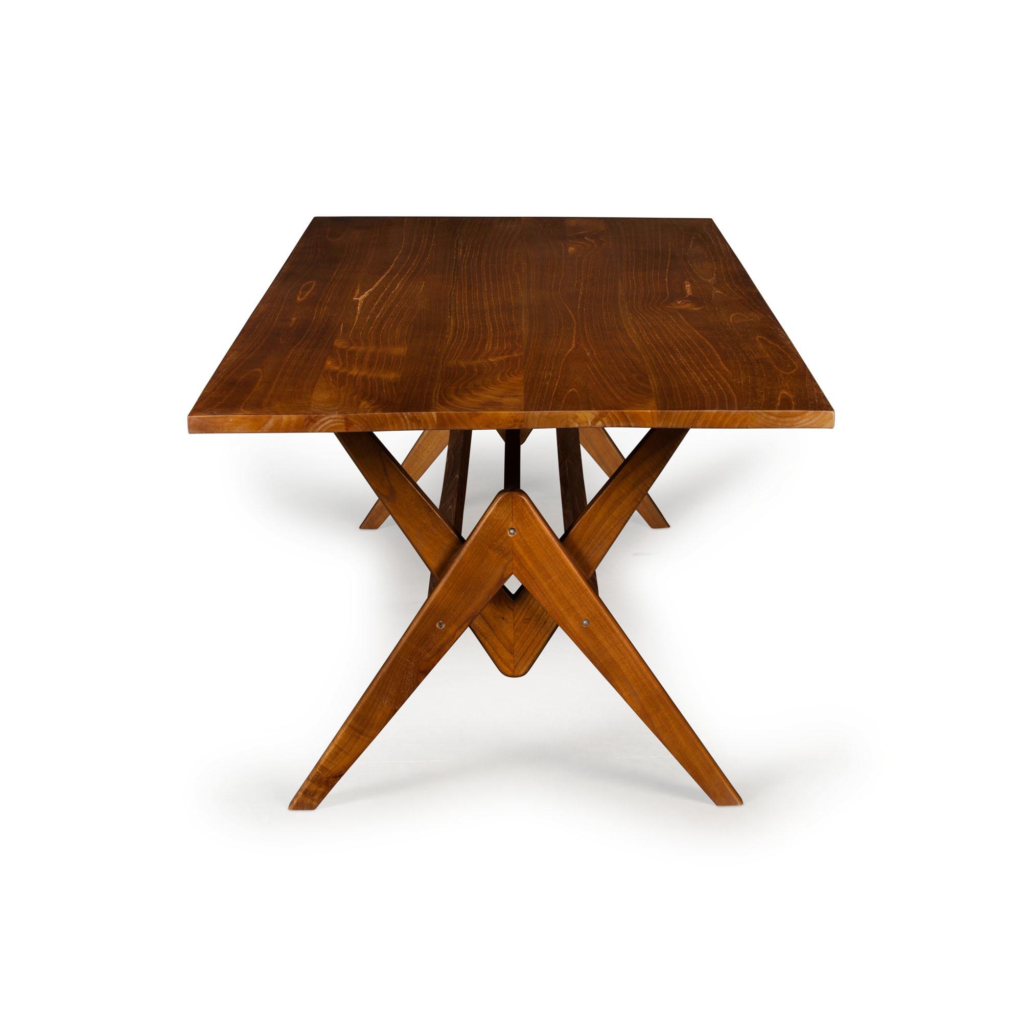Dining Table W.T.H. 220 - Verdunkeltes Teakholz-1