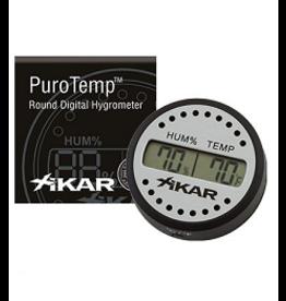 Xikar Xikar Puro Temp/Hygrometer Round