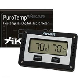 Xikar Xikar Puro Temp/Hygrometer Rechthoekig