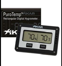 Xikar Xikar Puro Temp/Hygrometer Rectangular