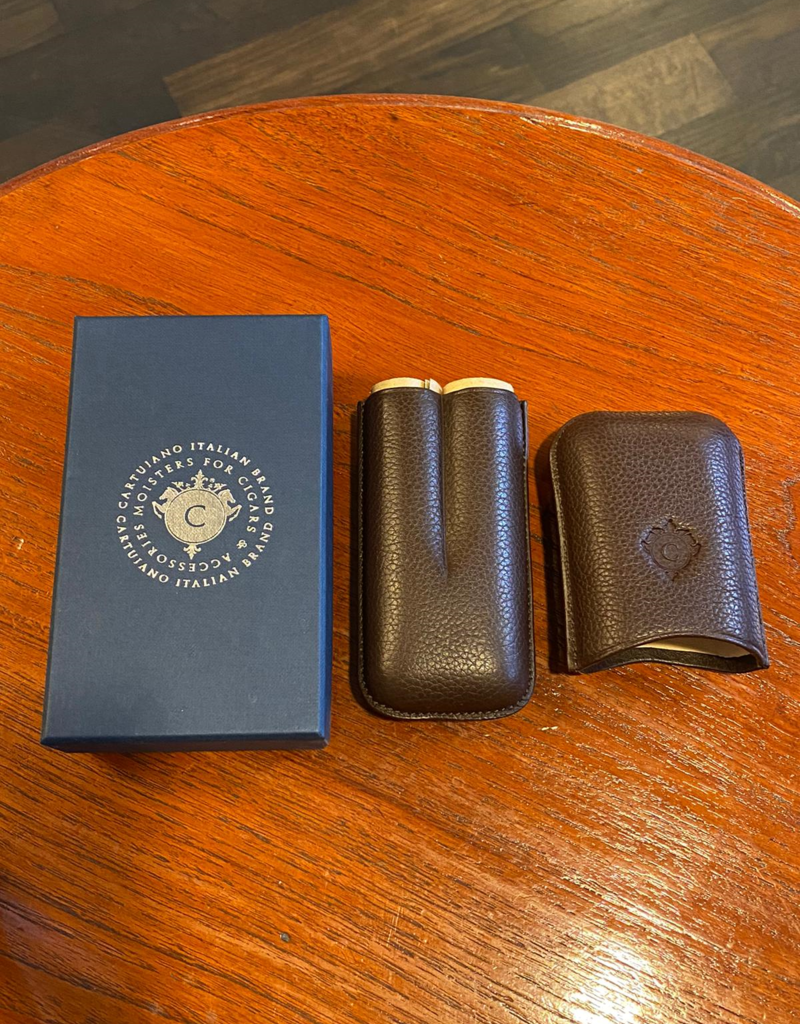 Cartujano Cigar case leather