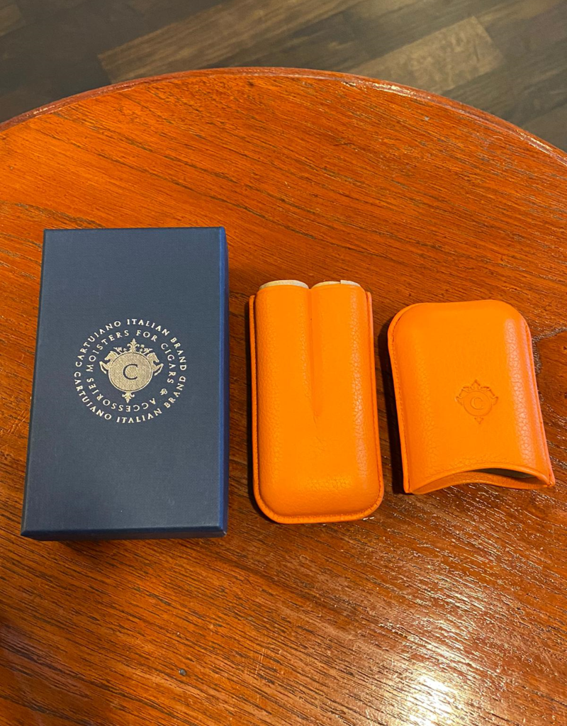 Cartujano Cigar case leather   Orange