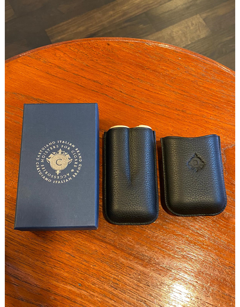 Cartujano Cigar case leather Black