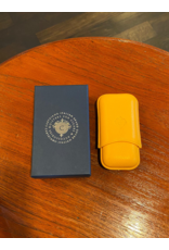 Cartujano Cigar case leather Yellow