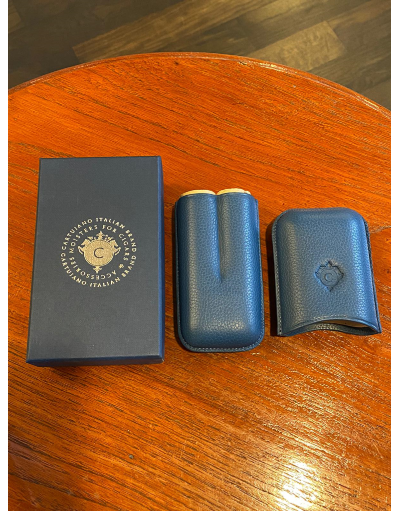 Cartujano Cigar case leather dark blue