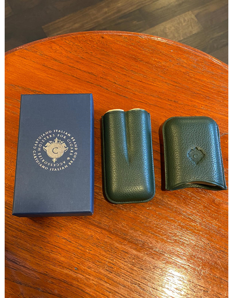 Cartujano Cigar case leather Green