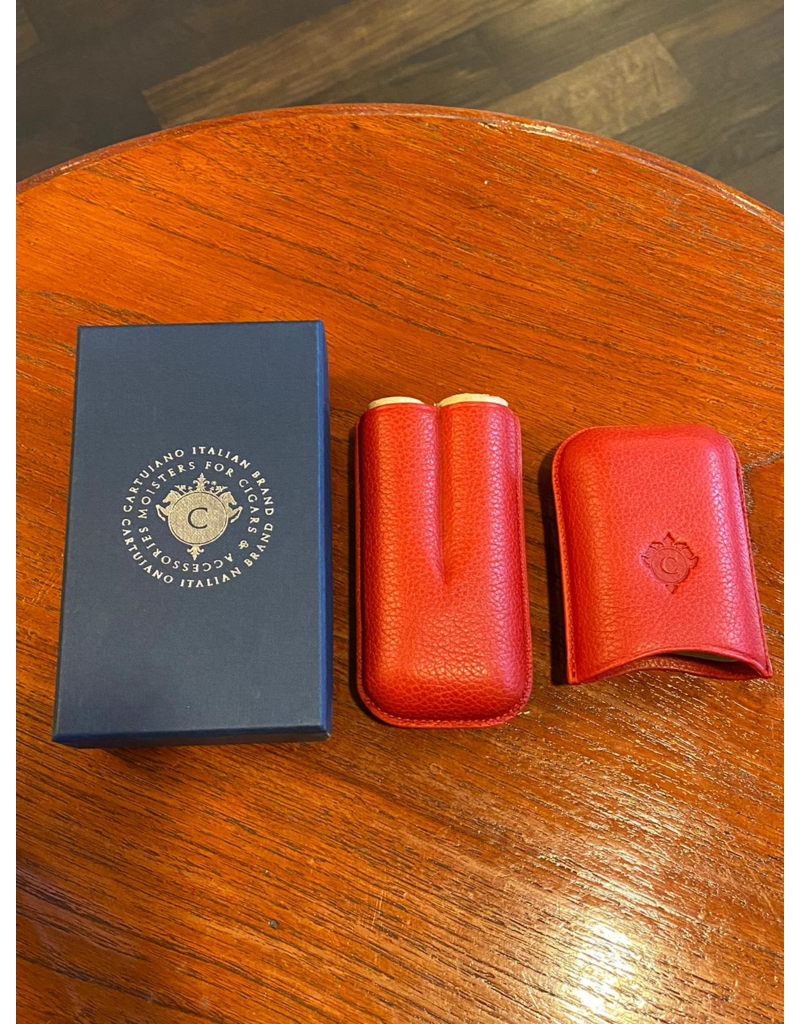 Cartujano Cigar case leather Red