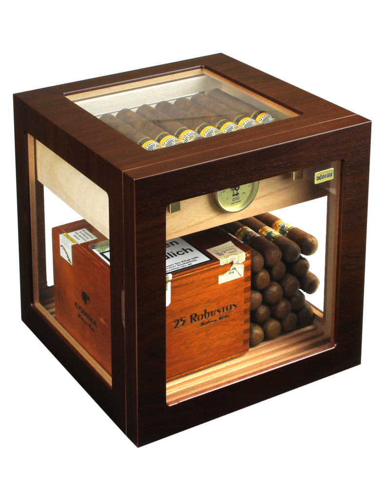 Adorini Adorini humidor Cube Deluxe Walnut