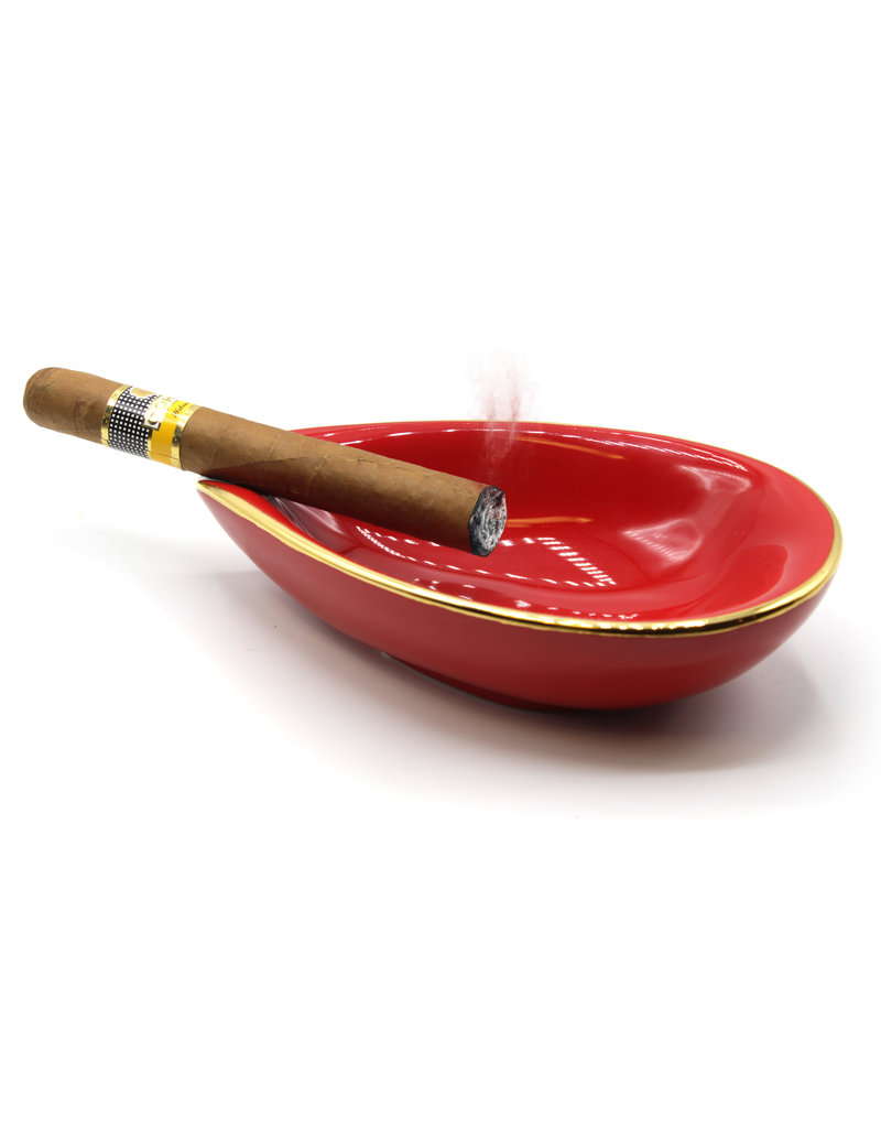 Adorini Adorini Keramische sigaren asbak rood