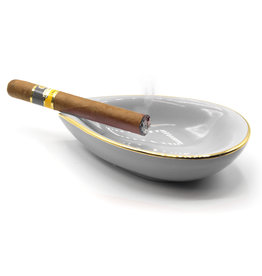 Adorini Adorini Keramische sigaren asbak leaf wit