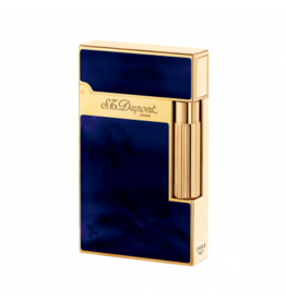 St. Dupont S.T. Dupont Ligne 2 Yellow Gold Finish Natural Lacquer Navy Blue