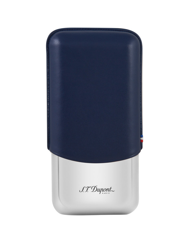 St. Dupont S.T. Dupont 3 cigar case  blue