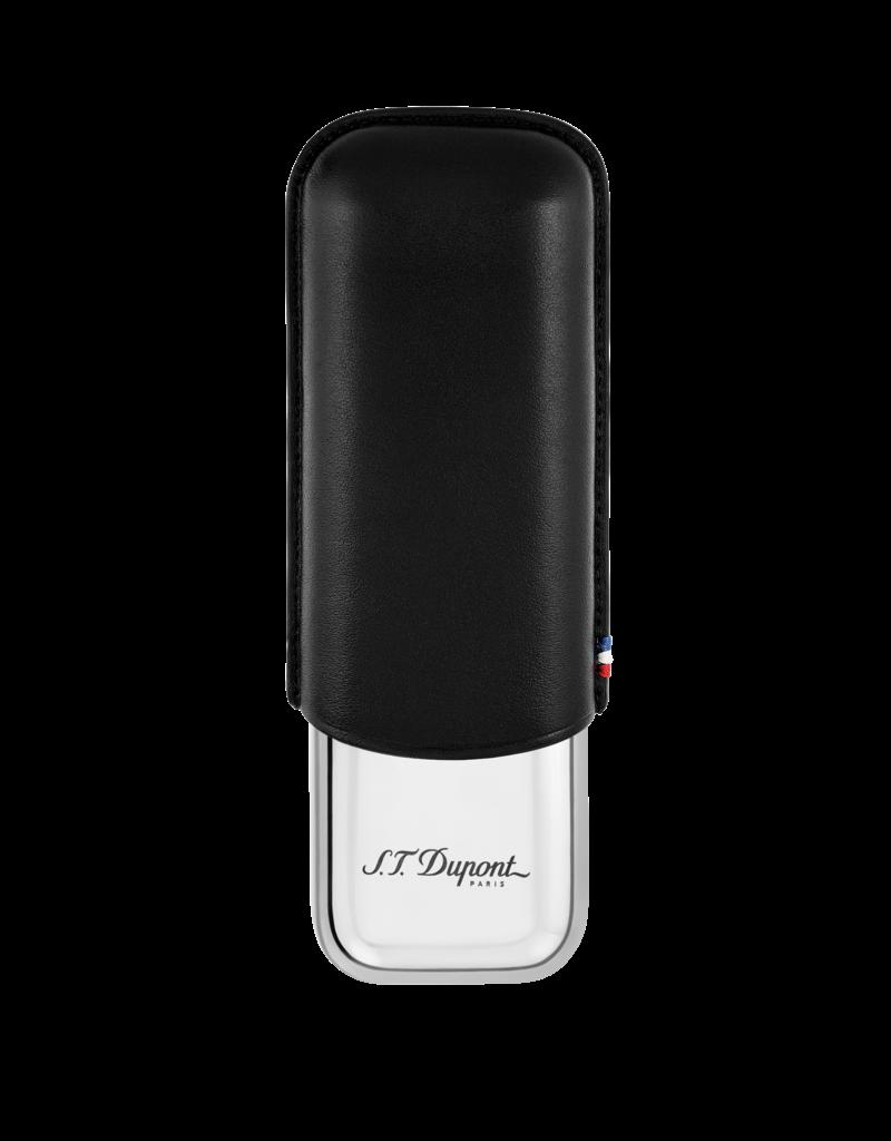 St. Dupont S.T. Dupont cigar case 2 cigars zwart