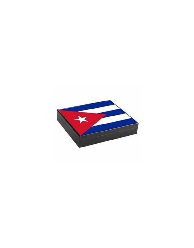 Humidor Cuba Flag