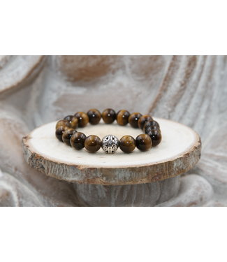 Luma Creation Bracelet PROTECTION en oeil de Tigre 10mm